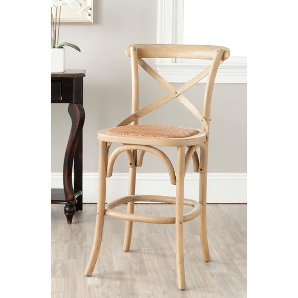 Safavieh 24 4 Inch Franklin Weathered Oak Counter Stool