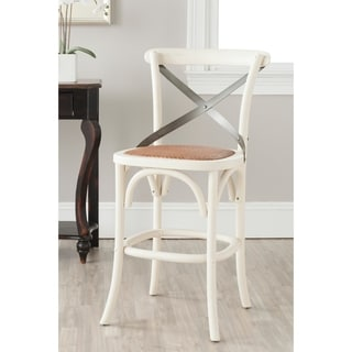Safavieh Eleanor Ivory Oak 24.4-inch Counter Stool