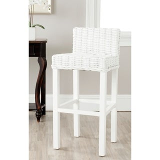 Safavieh Cypress White 29.5-inch Bar Stool