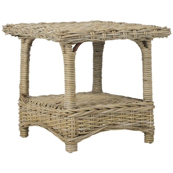 Safavieh Bowen Natural Rattan Side Table