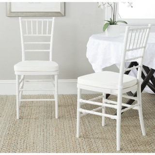 Safavieh Carly White Side Chairs (Set of 2)
