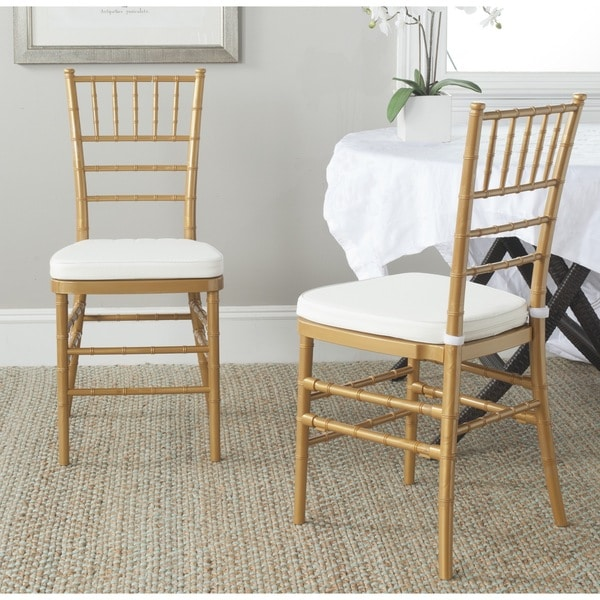 Safavieh Carly Gold Side Chairs (Set of 2)