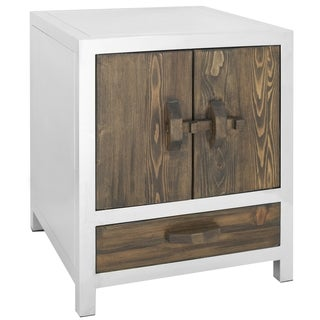 Safavieh 'Belfort' Silver Stainless Steel Night Stand