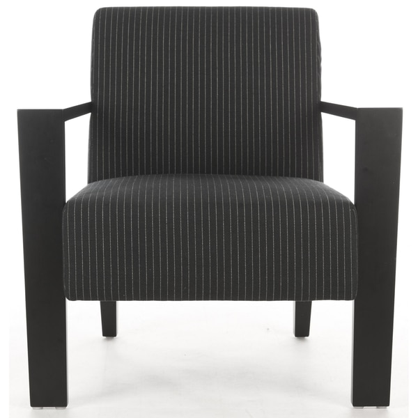 Safavieh Jenna Black/ Cream Stripe Arm Chair