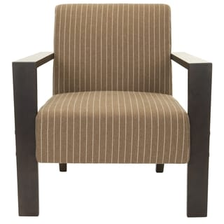 Safavieh Jenna Brown/ Cream Stripe Arm Chair
