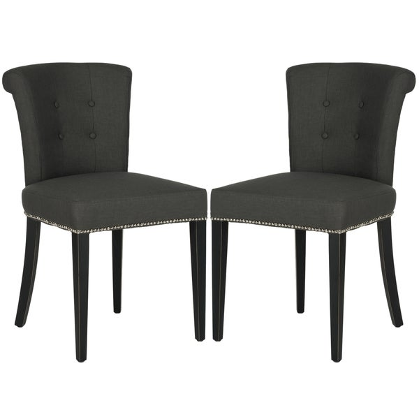 Safavieh Arion Charcoal Grey Ring Chair (Set of 2)