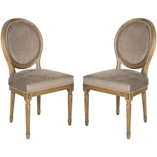 Safavieh Paris Mushroom Taupe Oval Oak Side Chairs (Set of 2)