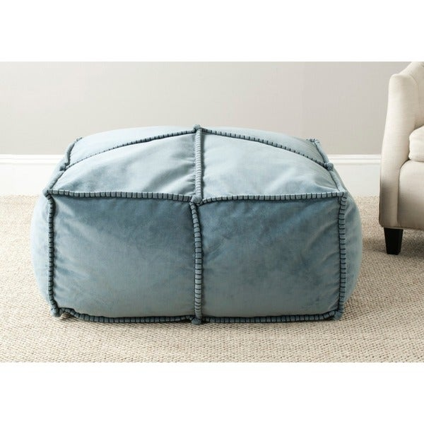 Safavieh Large Wedgwood Blue Pouf