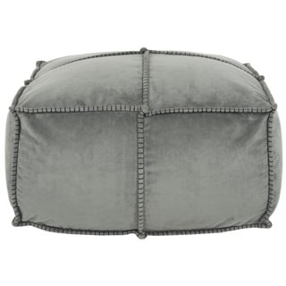 Safavieh Large Silver Grey Pouf