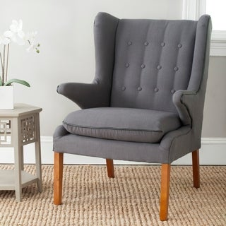 "Safavieh Mid-Century Gomer Steel Grey Oak Arm Chair - 26.8""x32.7""x39"""