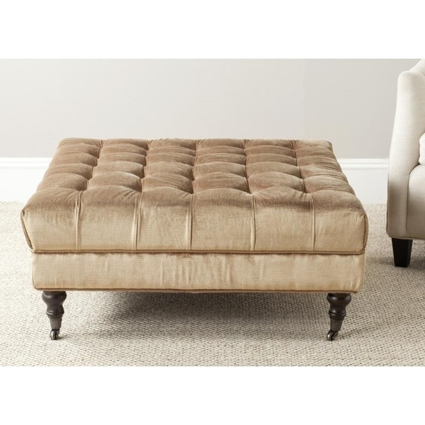 Safavieh Clark Golden Olive Cocktail Ottoman