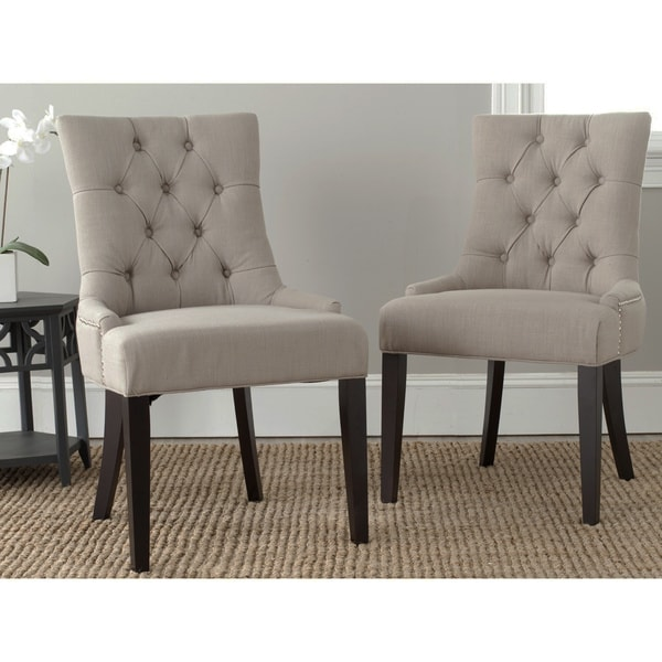 Safavieh En Vogue Dining Abby True Taupe Side Chairs (Set of 2)