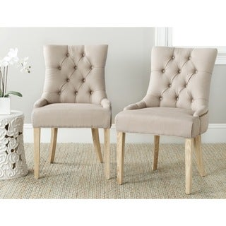 Safavieh Ashley Taupe Side Chairs (Set of 2)