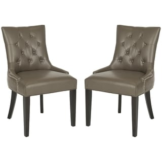 Safavieh Ashley Clay Grey Side Chairs (Set of 2)