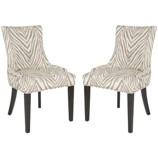 Safavieh Lester Grey Zebra Dining Chairs (Set of 2)