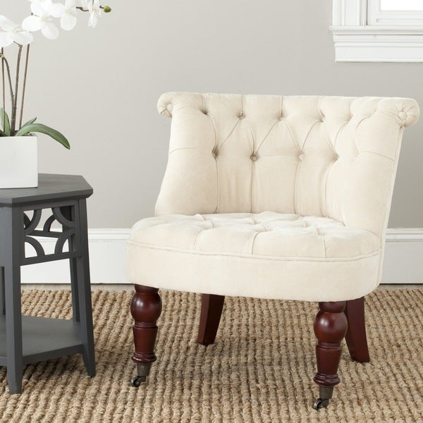Safavieh Carlin Natural Cream Tufted Chair (As Is Item)