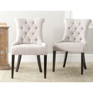 Safavieh Bowie Taupe Side Chairs (Set of 2)