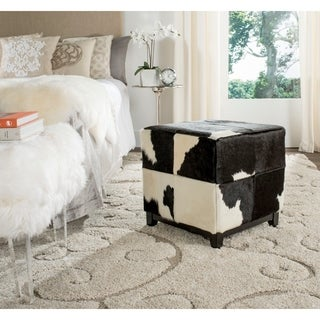 Safavieh Ricardo Grey and Ivory Ottoman