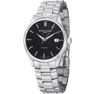 Frederique Constant Men's FC-303B5B6B 'Index' Black Dial Stainless Steel Watch