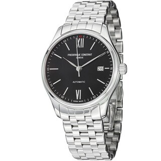 Frederique Constant Men's FC-303BN5B6B 'Index' Black Dial Stainless Steel Watch