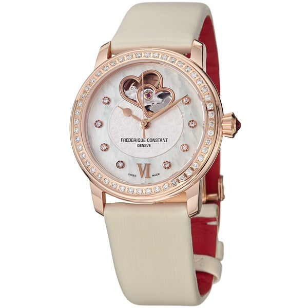 Frederique Constant Women's 'Ladies Automatic' Vanilla Strap Watch