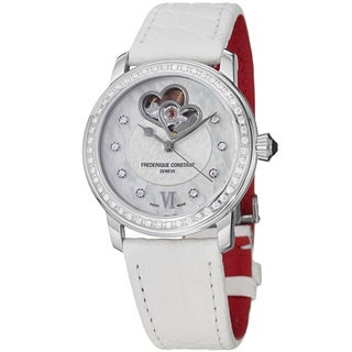 Frederique Constant Women's 'Ladies Automatic' White Strap Watch