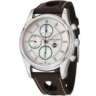 Frederique Constant Men's FC-392HVG6B6 'VintageRally' Silver Dial Chronograph Watch