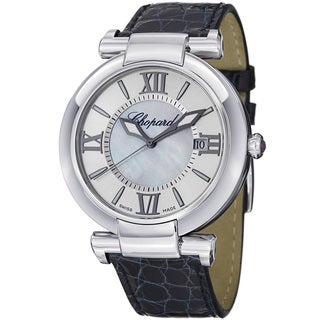 Chopard Women's 388531-3001 'Imperiale' Silver Dial Blue Leather Strap Watch