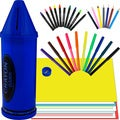 Trademark Crayon Bank and Art Set