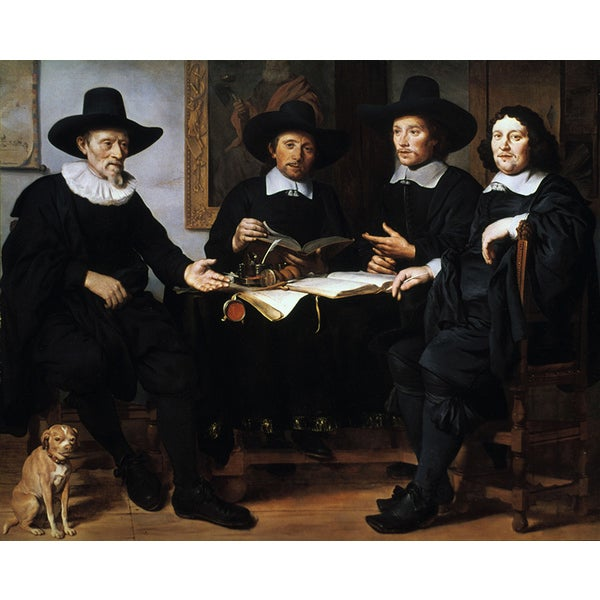 Gerbrand van den Eeckhout 'Dutch Quaker Functionaries in Amsterdam' Canvas Print