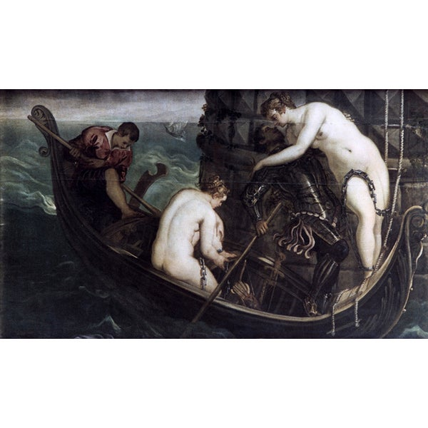 Tintoreto 'The Rescue of Arsinoe' Canvas Print