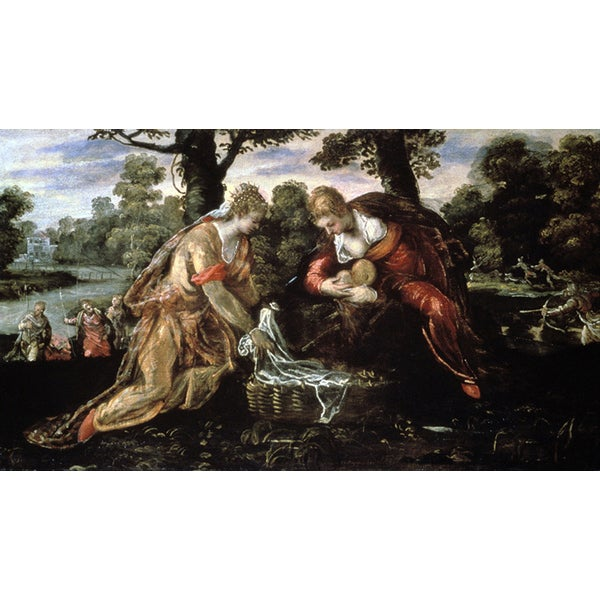 Tintoreto 'The Discovery of Moses, 16th Century Christianity' Canvas Print