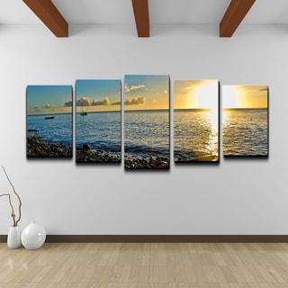 Chris Doherty 'Sunset' 5-piece Canvas Wall Art Set