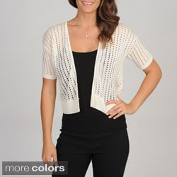 Lennie for Nina Leonard Women's Crochet Cardigan