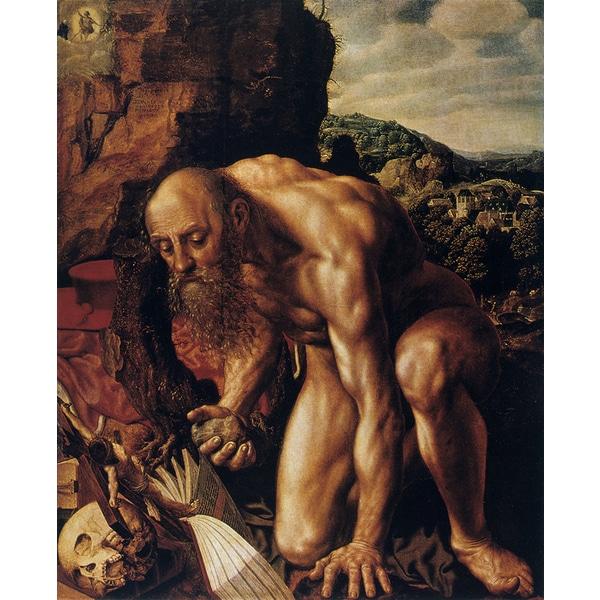 Jan Sanders van Hemessen 'St Jerome in the Desert' Canvas Print
