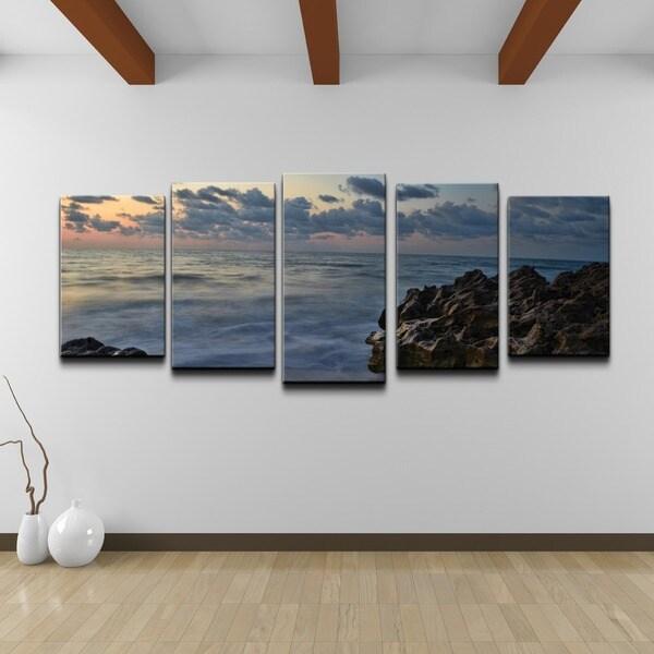 Doherty 'Rocky Sunset' 5-piece Canvas Wall Art Set