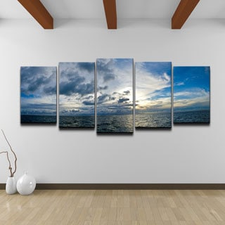 Chris Doherty 'Sunset' 5-piece Canvas Art Set