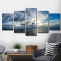 Chris Doherty 'Sunset at Sea' 5-piece Canvas Art Set