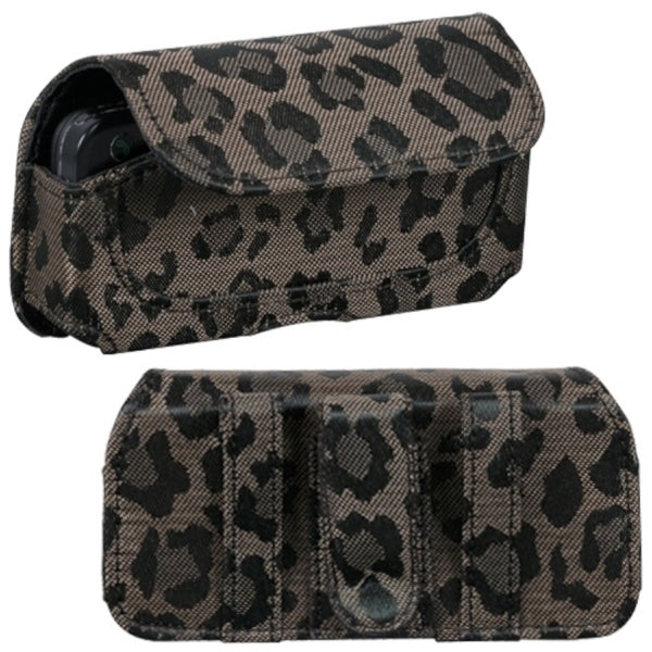 INSTEN Coffee Watermark Horizontal Pouch for Samsung M850 Instinct HD