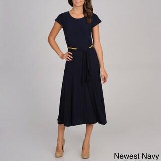 Lennie for Nina Leonard Women's Jersey Knit Chain Link Dress