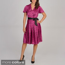 Cece's New York Women's Satin Shirt Dress