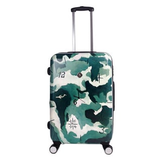 Neocover Camo Time 28-inch Large Hardside Spinner Luggage Upright Suitcase