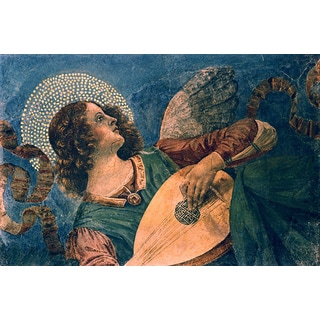 Melozzo da Forli 'Angel Depicted as a Musician' Canvas Print