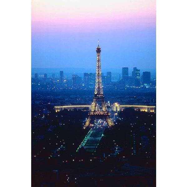 'Eiffel Tower at Sunset, Paris, France, Europe' Photography Canvas Print