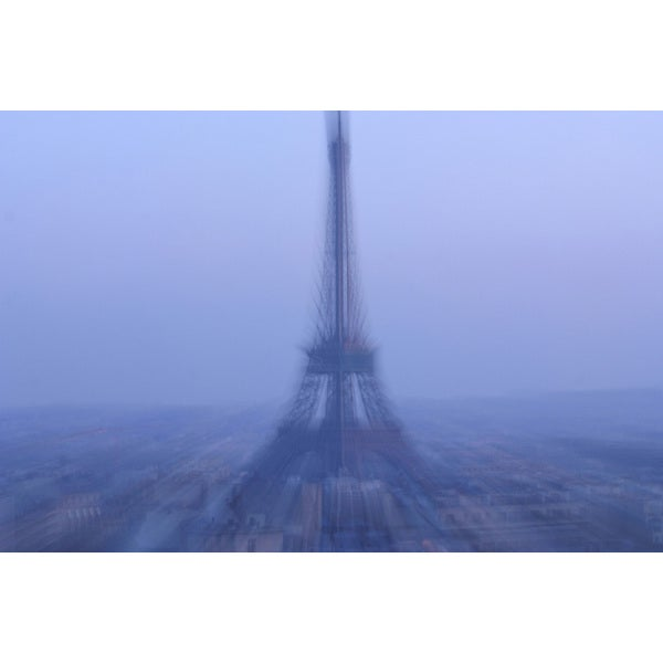 'Blurred Eiffel Tower in Paris, France' Photography Canvas Print