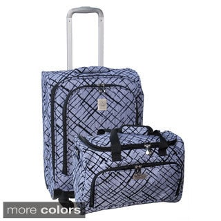 Jenni Chan Brush Strokes 2-piece Spinner Luggage Set