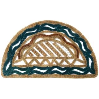 Rubber-Cal 18-Inch x 30-Inch 'Venetian' Coir Doormat