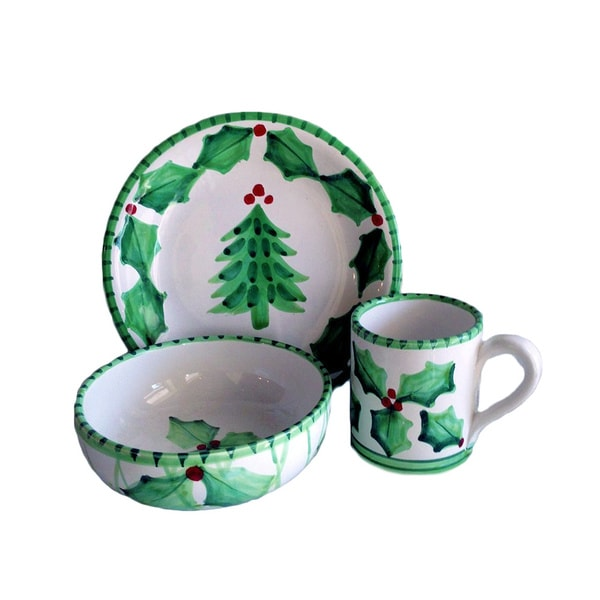 Holly Jolly Ceramic Child Place Setting (Italy)
