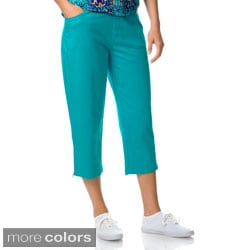 Oleg Cassini Women's Jersey Capri Pants