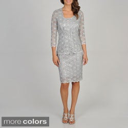 R & M Richards Women's 2-piece Lace Jacket and Dress